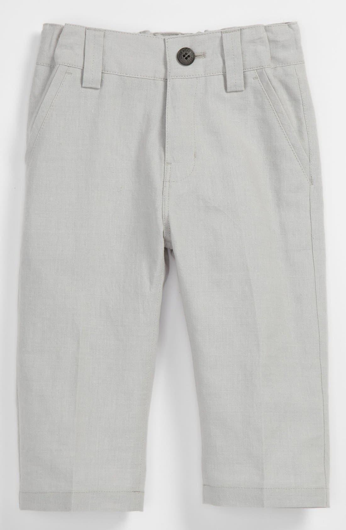 Alternate Image 1 Selected - BOSS Kidswear Linen Blend Pants (Toddler)