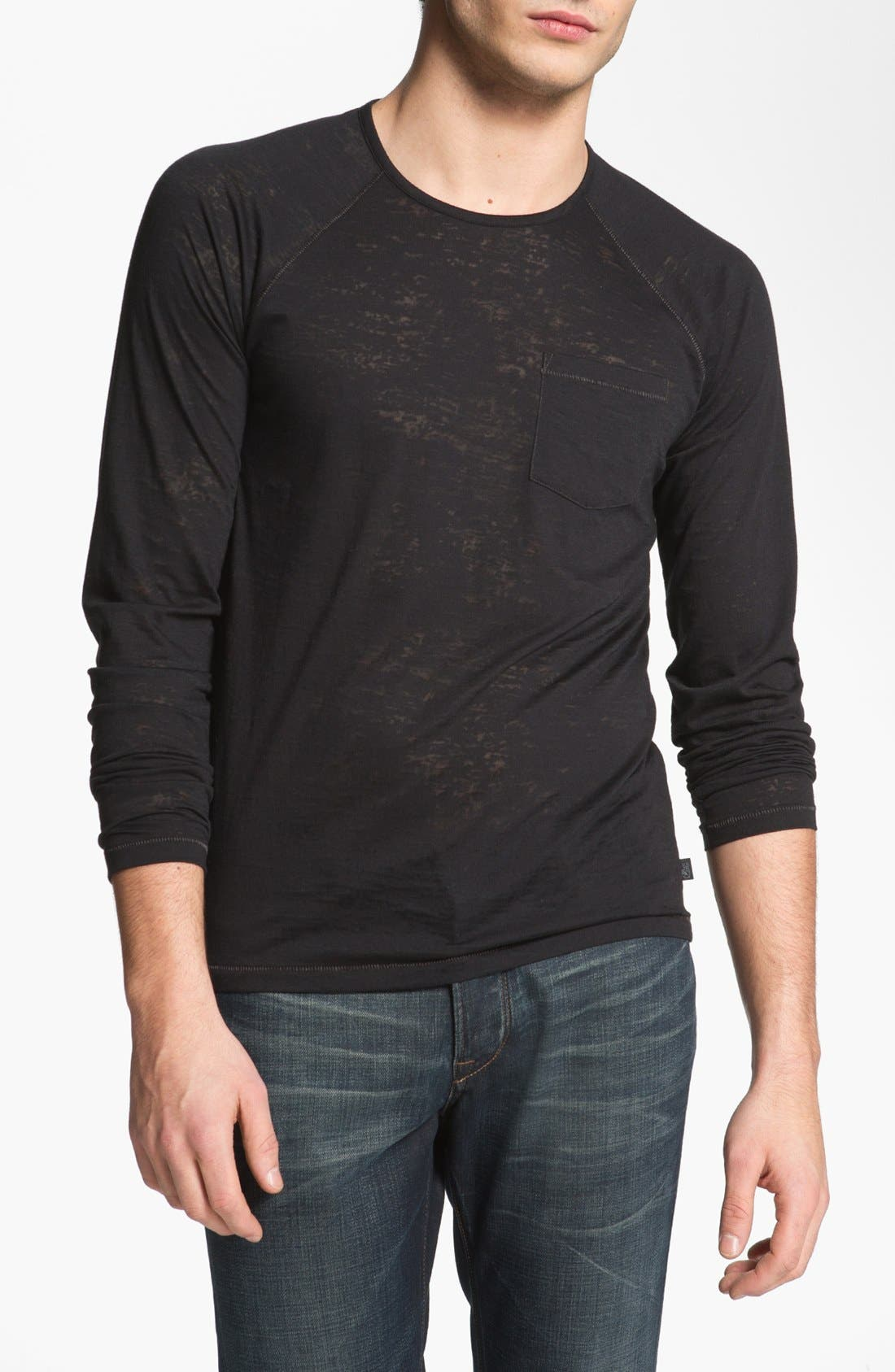 Alternate Image 1 Selected - John Varvatos Star USA Burnout Henley