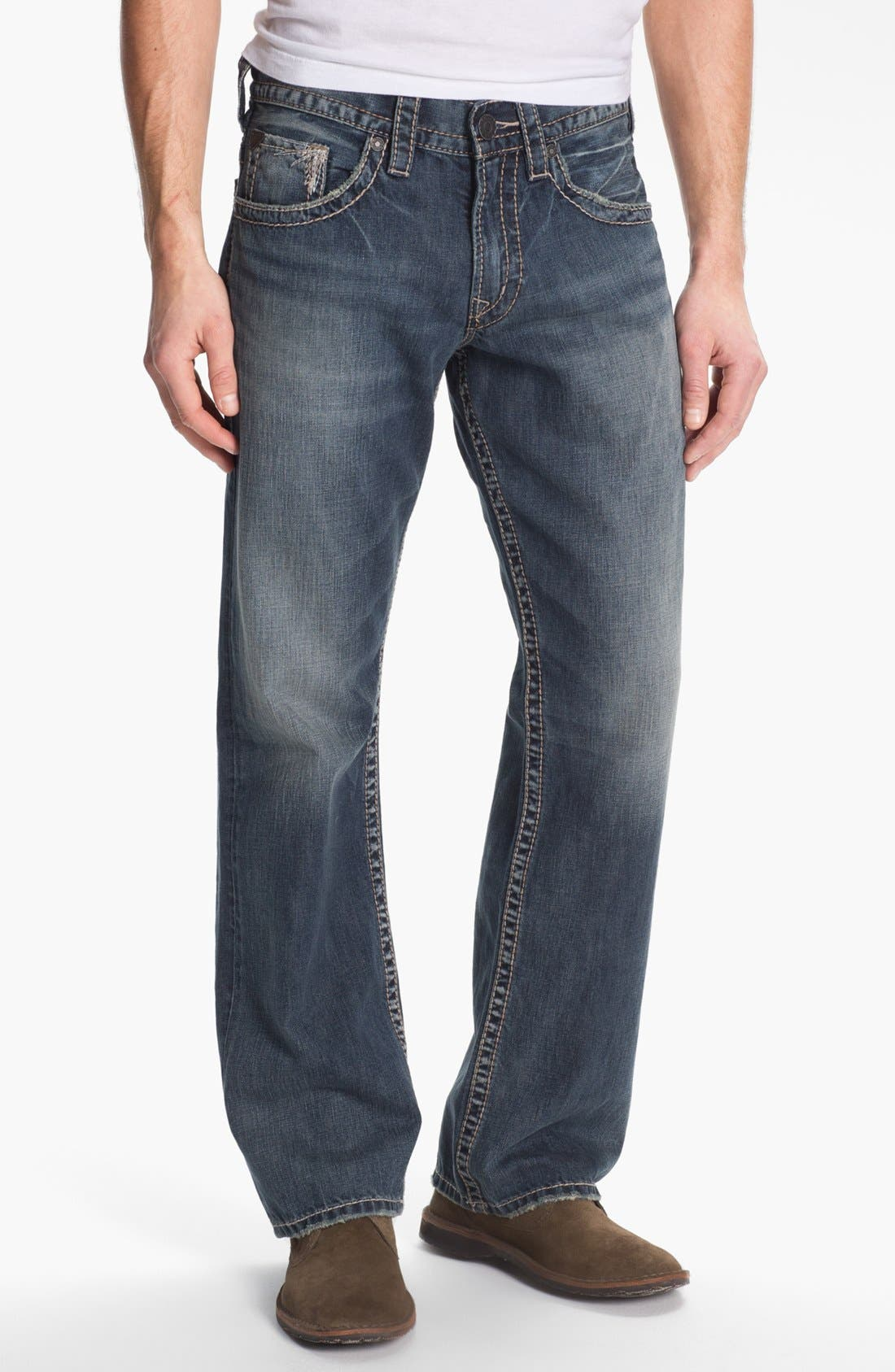 Alternate Image 2  - Silver Jeans Co. 'Gordie' Bootcut Jeans (Indigo)