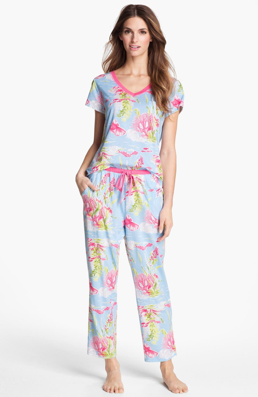 Alternate Image 1 Selected - Carole Hochman Designs Capri Pajamas