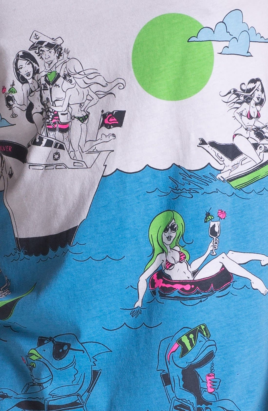 Alternate Image 3  - Quiksilver 'Sinking Teeth' Graphic Tank Top