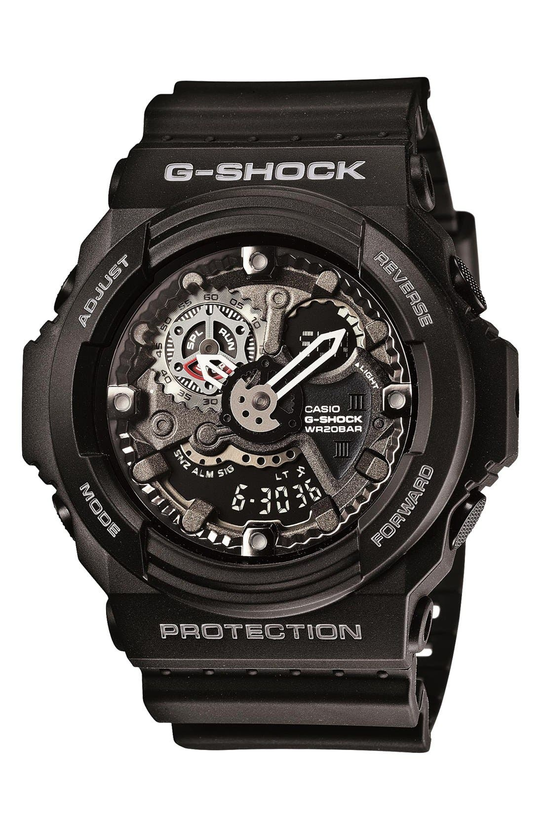 Main Image - G-Shock 'X-Large' Dual Movement Watch, 55mm x 52mm