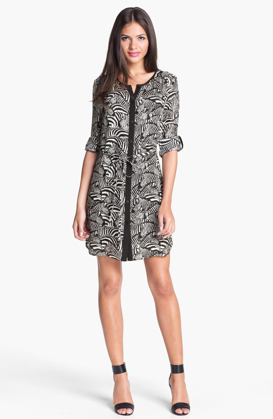 Alternate Image 1 Selected - Trina Turk 'Essie' Silk Shirtdress