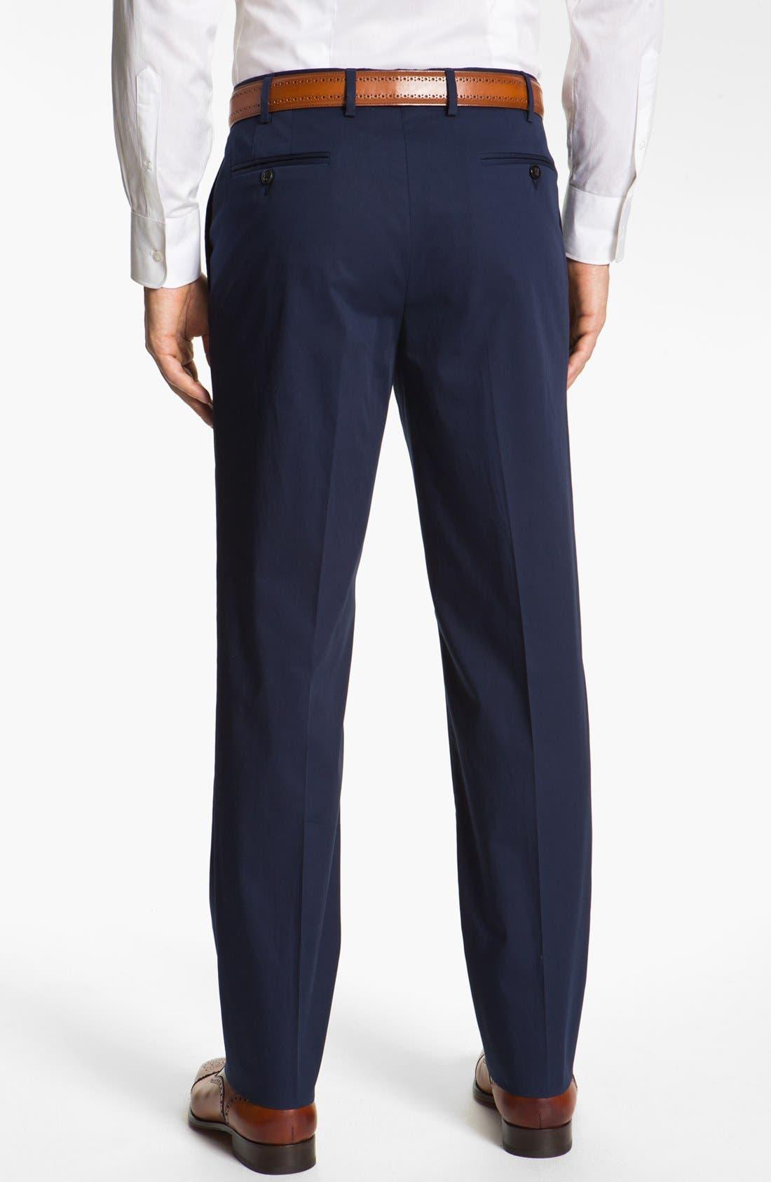 Alternate Image 2  - Zanella 'Devon' Flat Front Seersucker Trousers