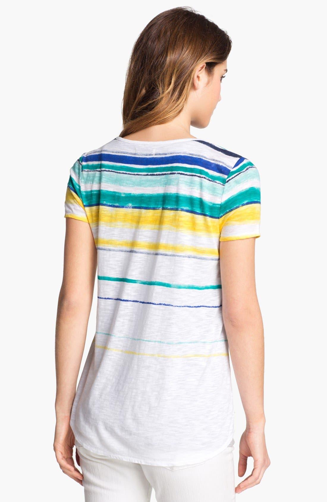 Alternate Image 2  - Lucky Brand 'Charleigh' Stripe Tee