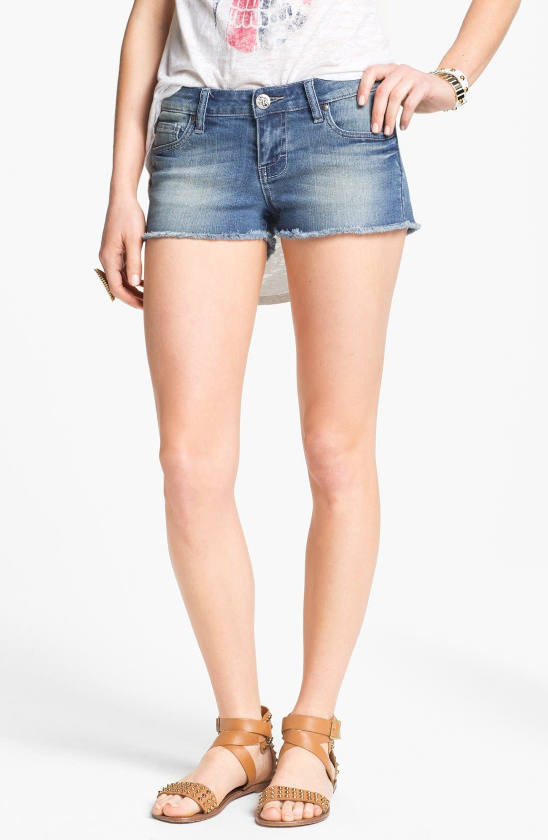 Alternate Image 1 Selected - STS Blue Cutoff Denim Shorts (Agate Medium) (Juniors)