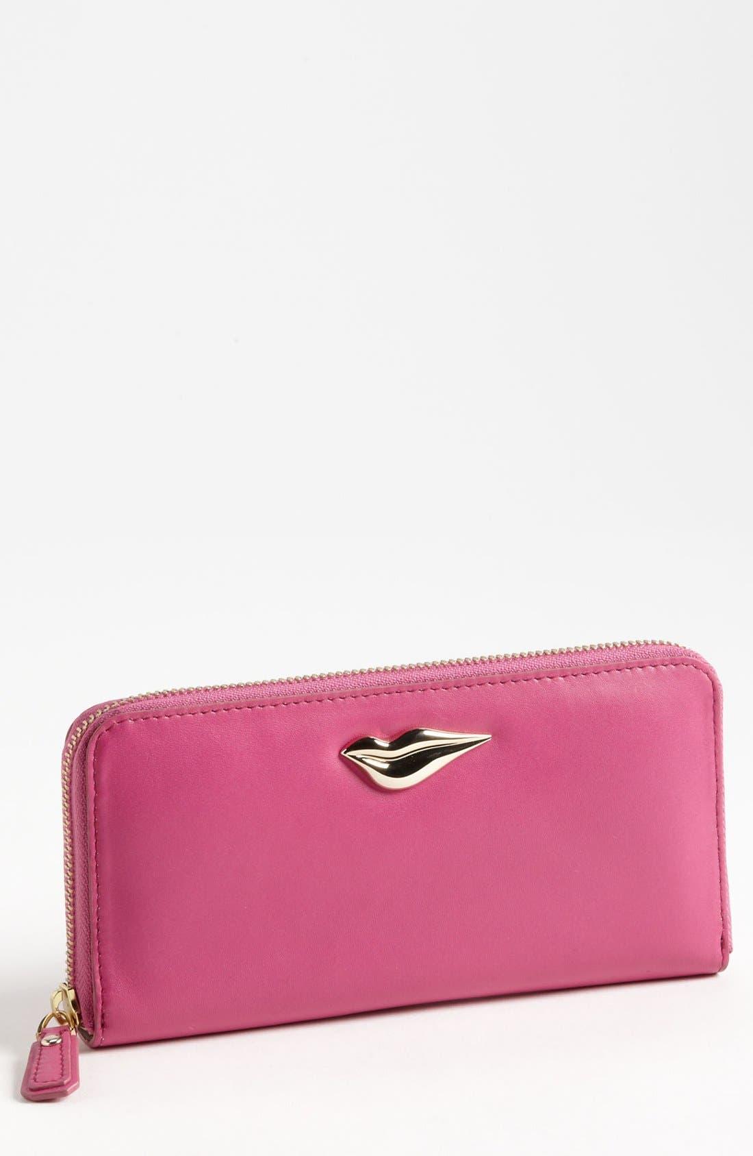 Alternate Image 1 Selected - Diane von Furstenberg 'Lips' Leather Wallet
