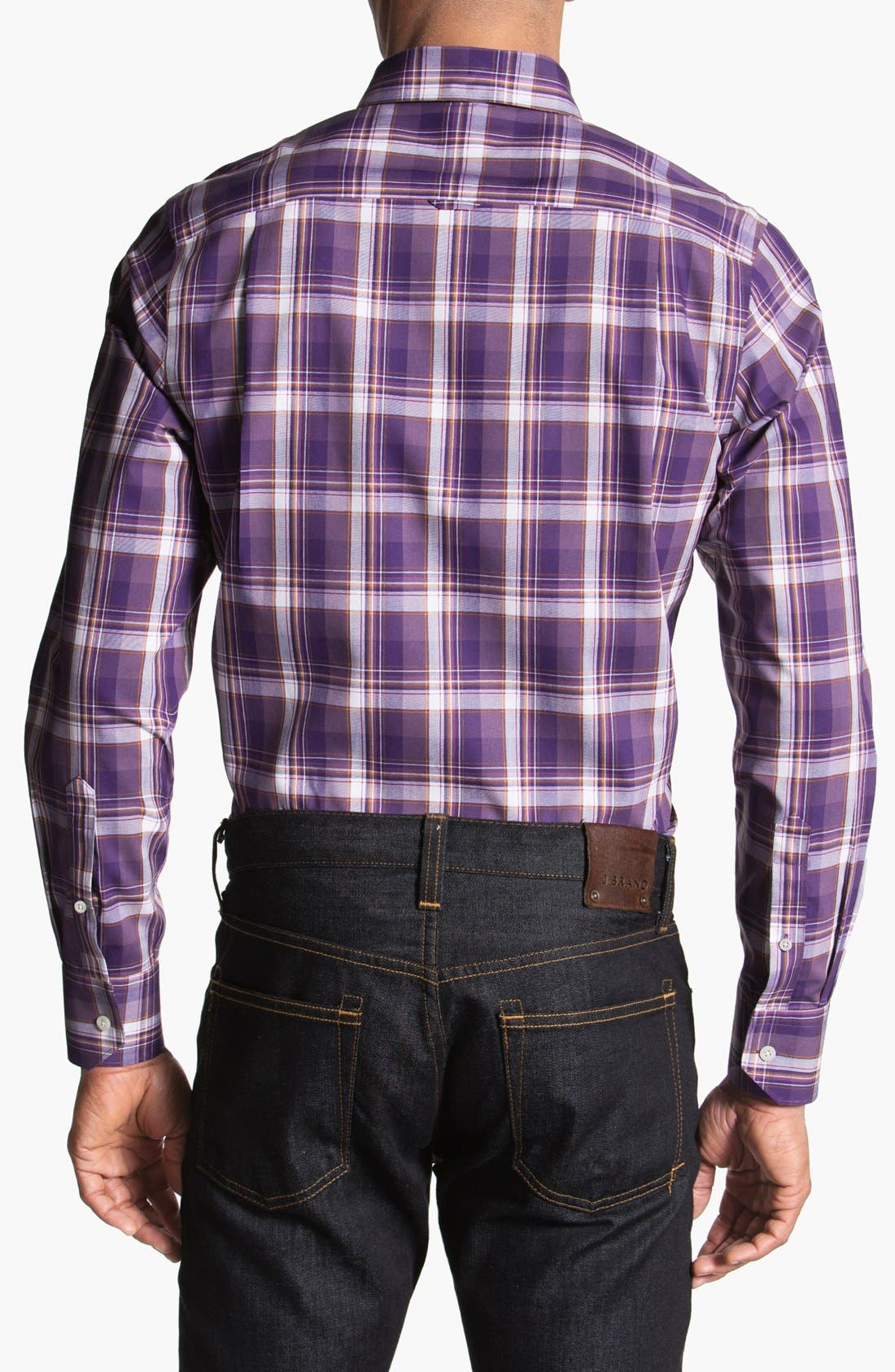 Alternate Image 2  - Nordstrom Poplin Sport Shirt