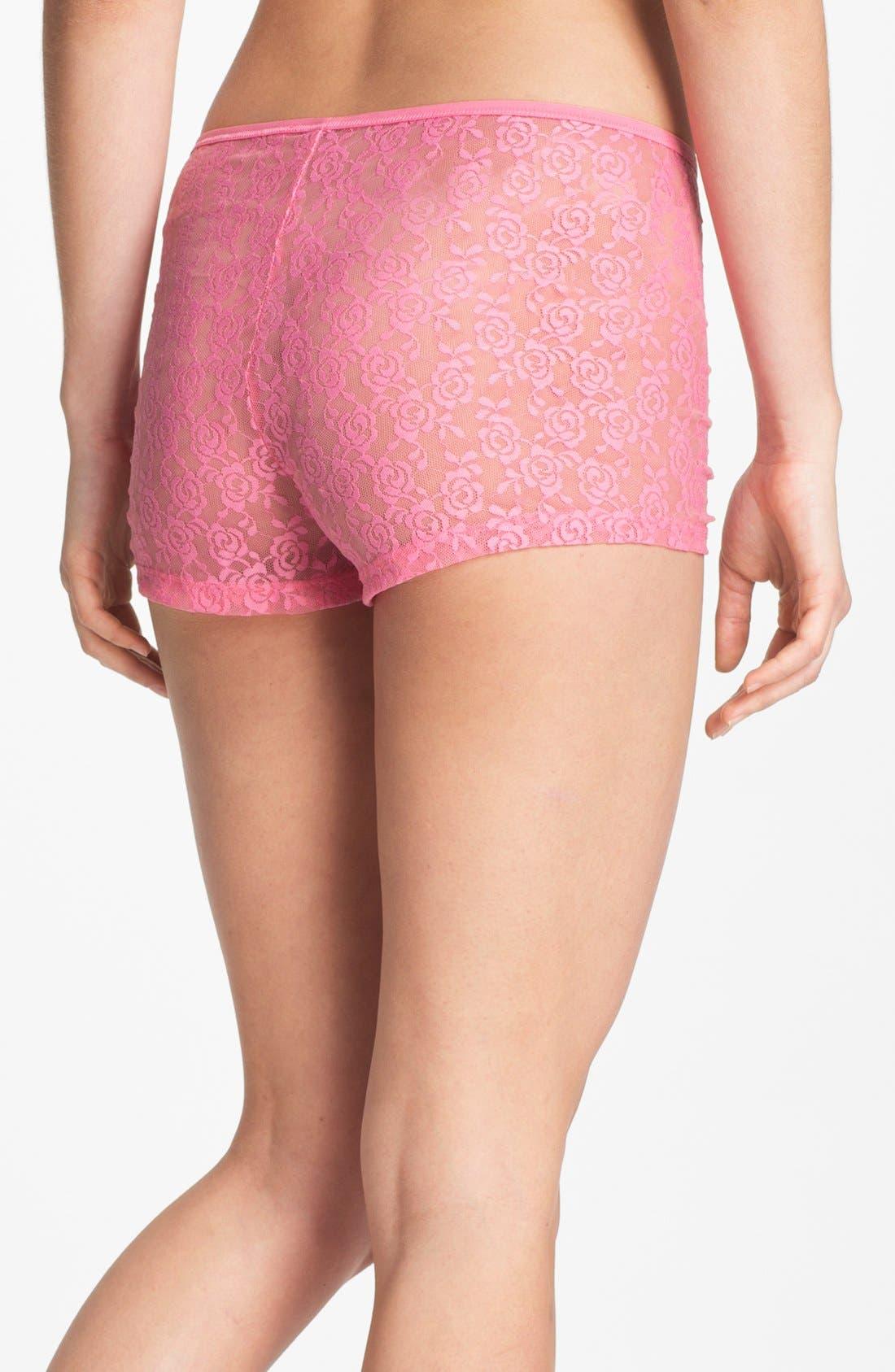Alternate Image 2  - Steve Madden 'Beneath It All' Lace Shorts