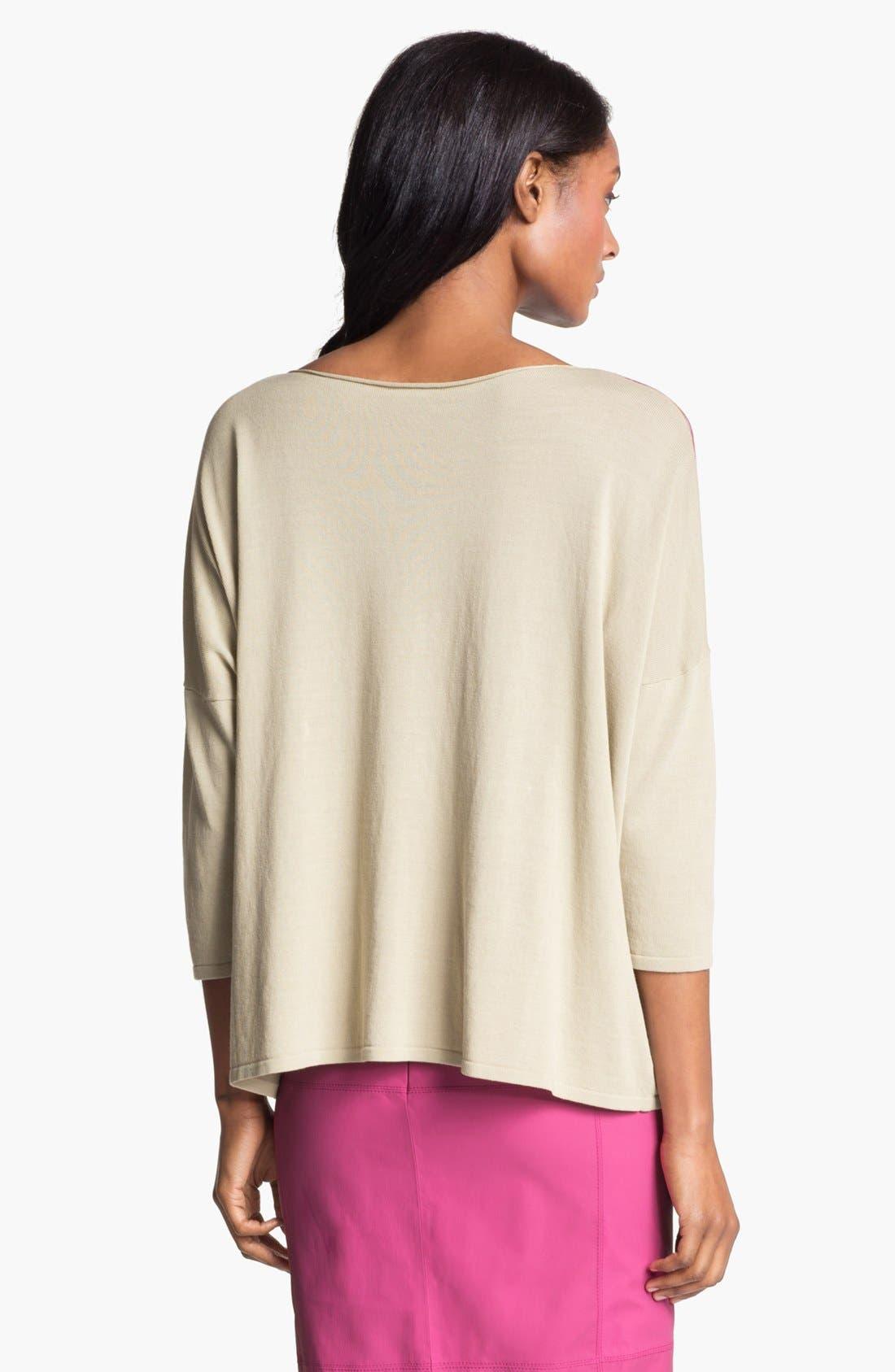 Alternate Image 2  - Lafayette 148 New York 'Opulent' Intarsia Sweater