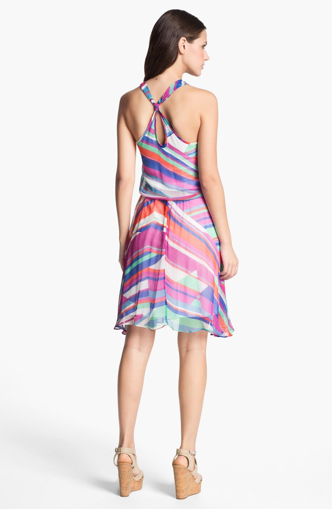 Alternate Image 2  - Ella Moss Print Chiffon Tank Dress