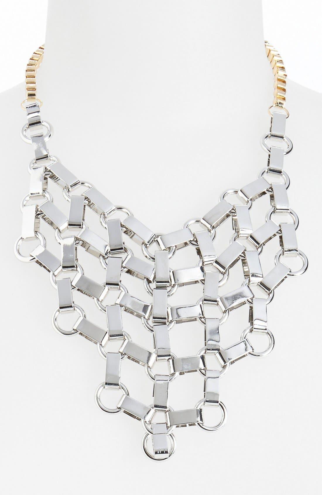 Main Image - Topshop 'Mega Link' Mesh Bib Necklace