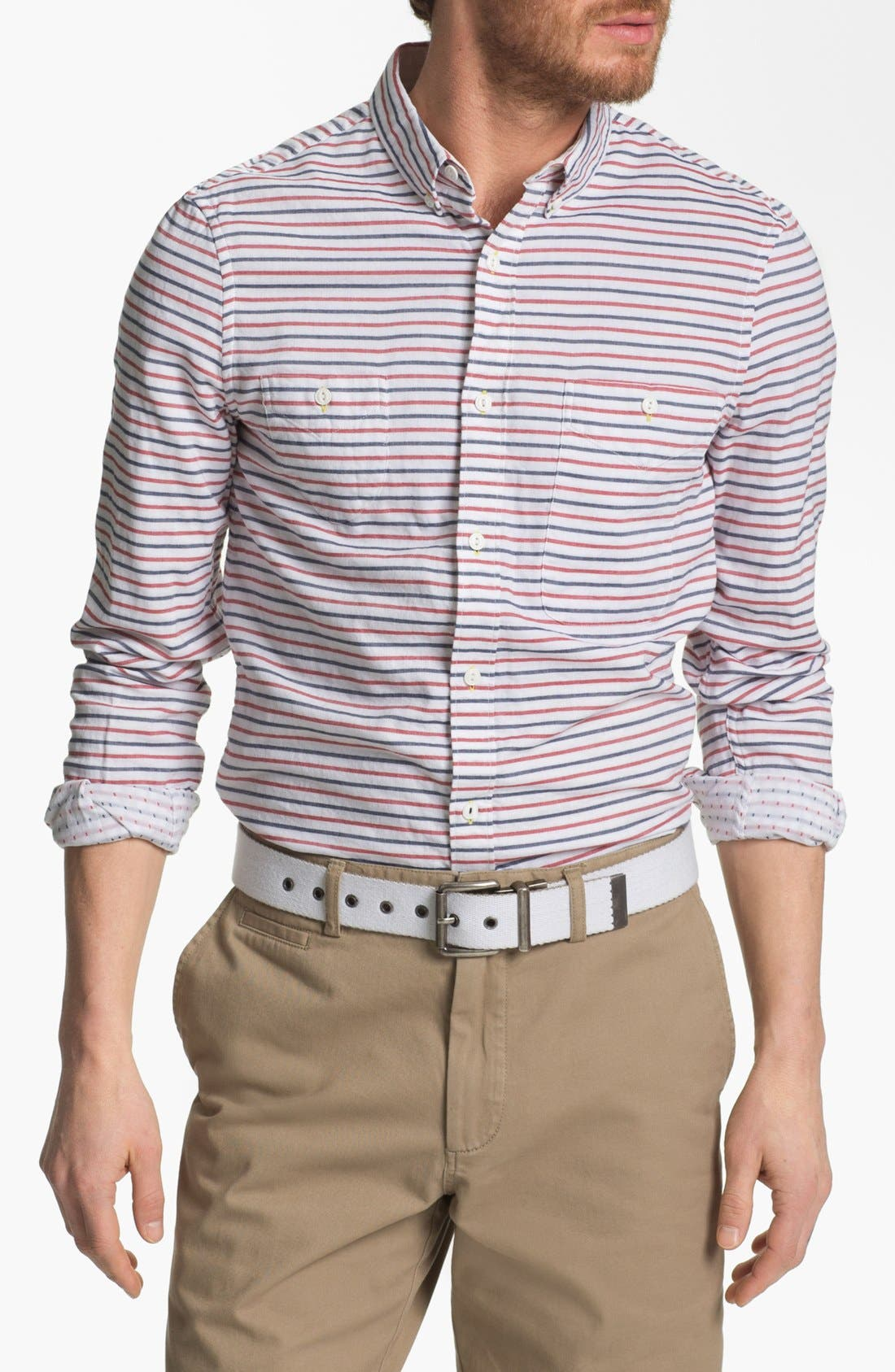 Main Image - French Connection 'Dartmouth' Slim Fit Sport Shirt (Online Only)