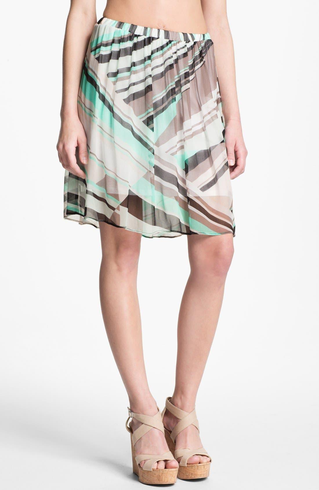 Alternate Image 1 Selected - Ella Moss Print Chiffon Skirt