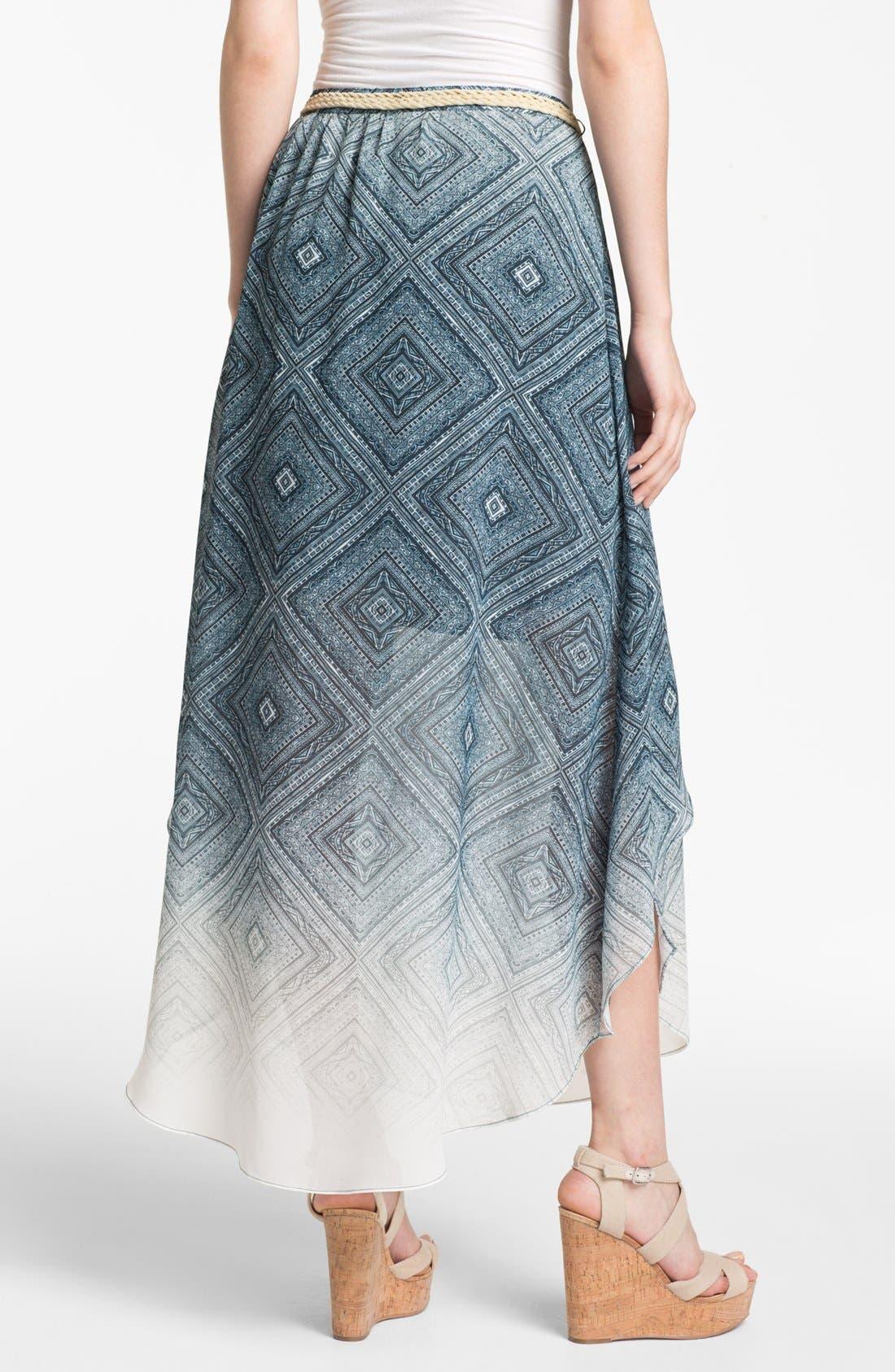 Alternate Image 2  - Sanctuary Handkerchief Chiffon Skirt