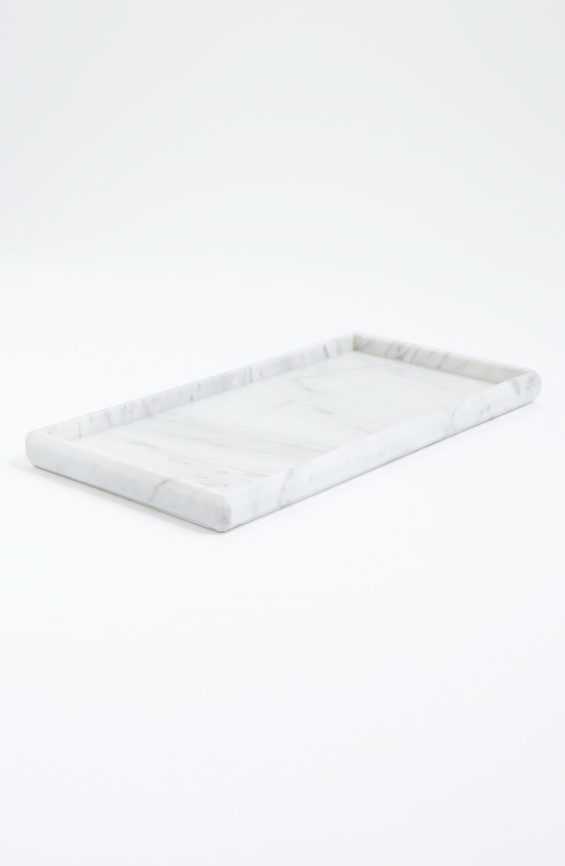 Alternate Image 1 Selected - Waterworks Studio Luna White Marble Tray (Online Only)