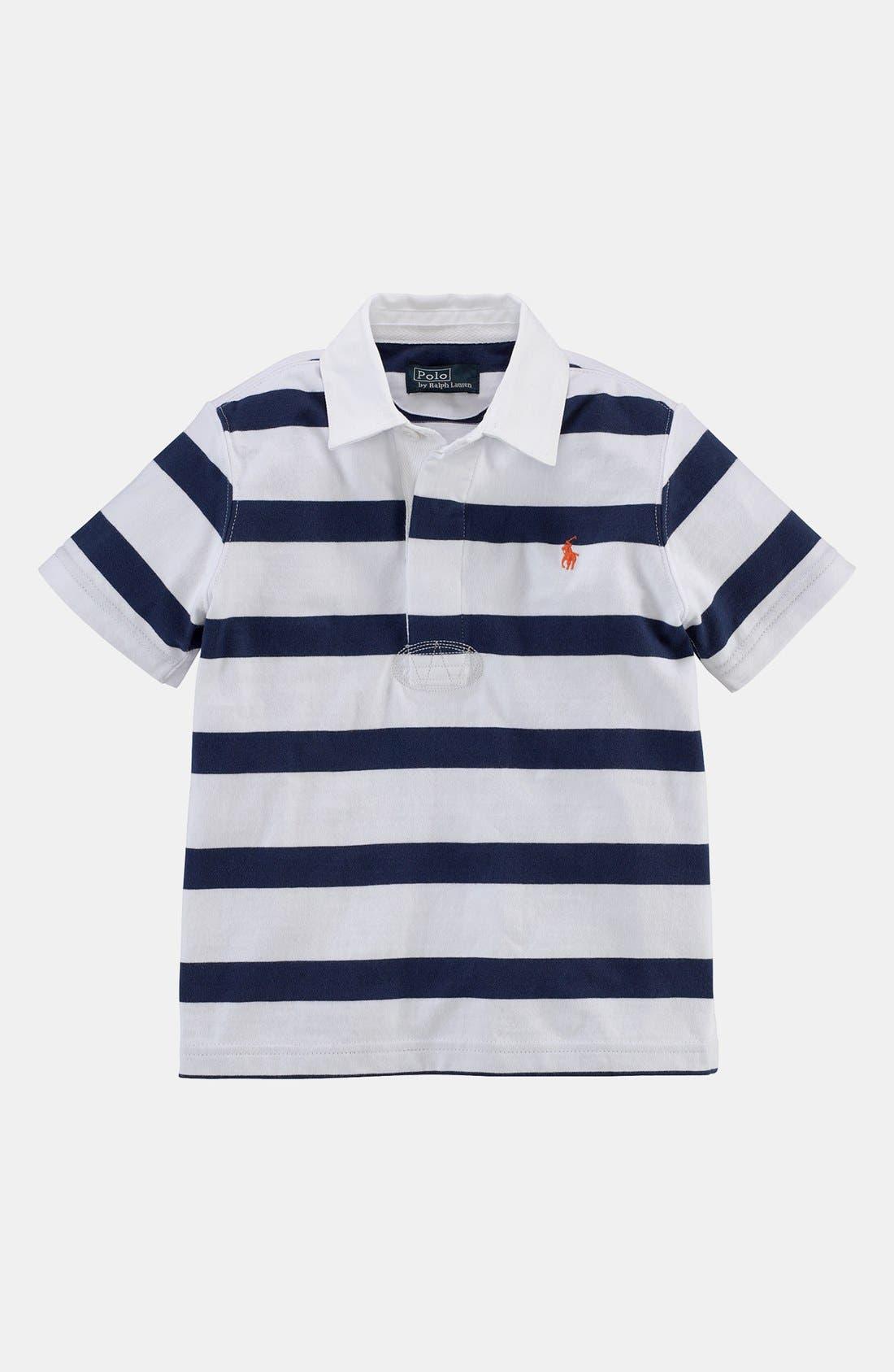 Main Image - Ralph Lauren Stripe Polo (Toddler)