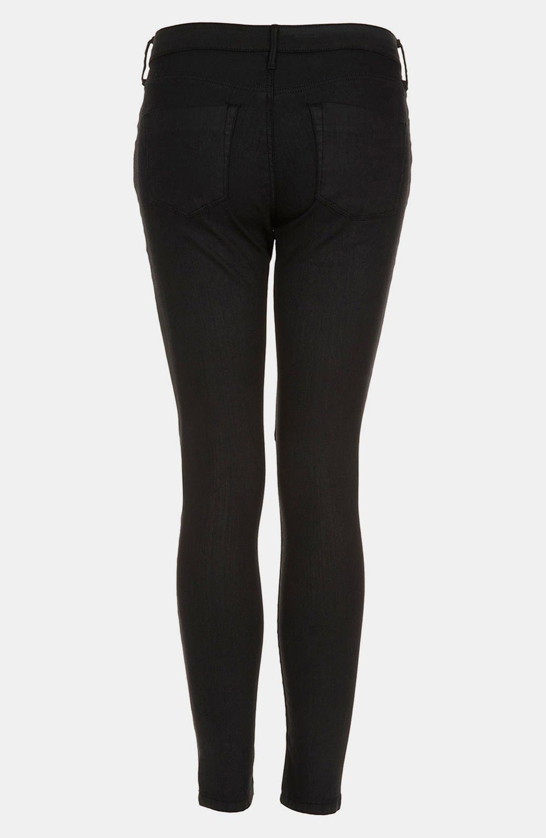 Alternate Image 2  - Topshop Moto 'Leigh' Coated Skinny Jeans