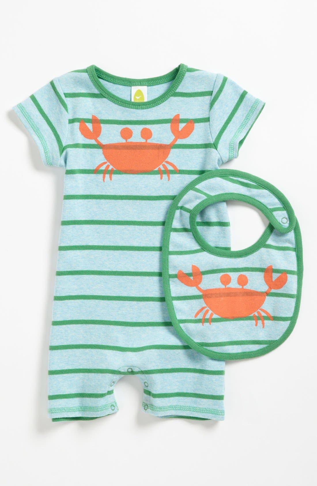 Alternate Image 1 Selected - Stem Baby Organic Cotton Romper & Bib (Baby)