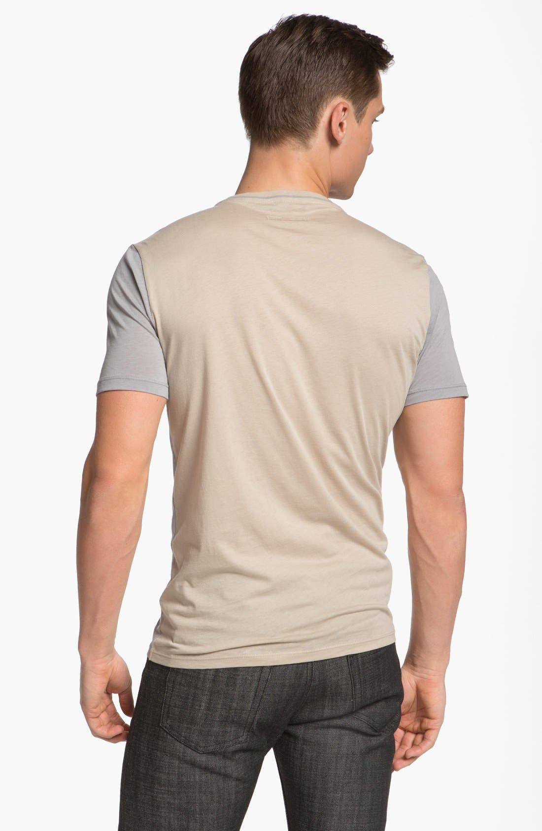Alternate Image 2  - Z Zegna Two Tone T-Shirt