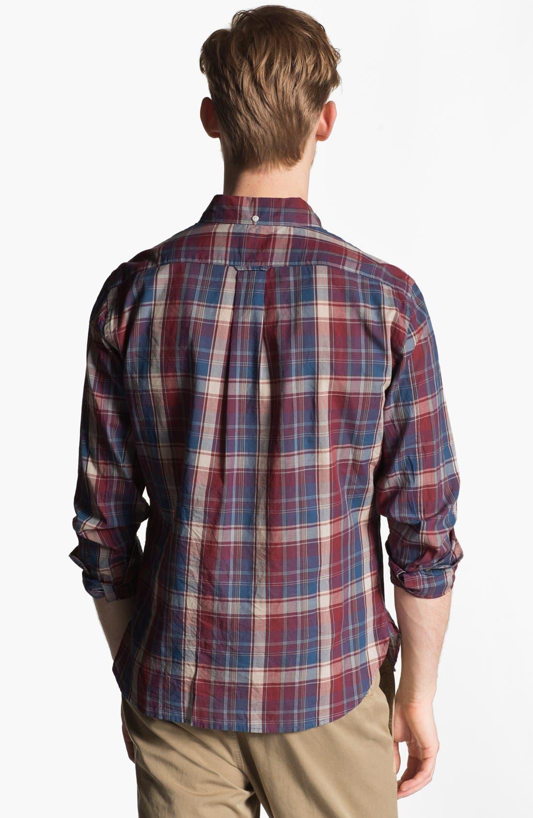 Alternate Image 2  - Todd Snyder Plaid Cotton Sport Shirt