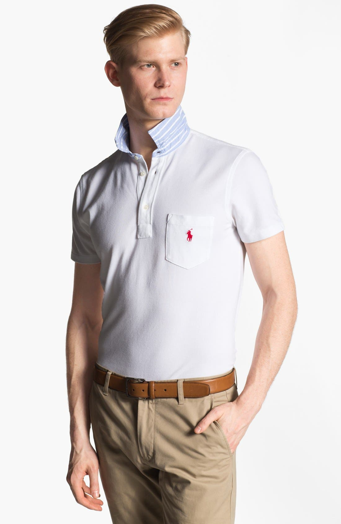 Alternate Image 1 Selected - Polo Ralph Lauren Cotton Polo