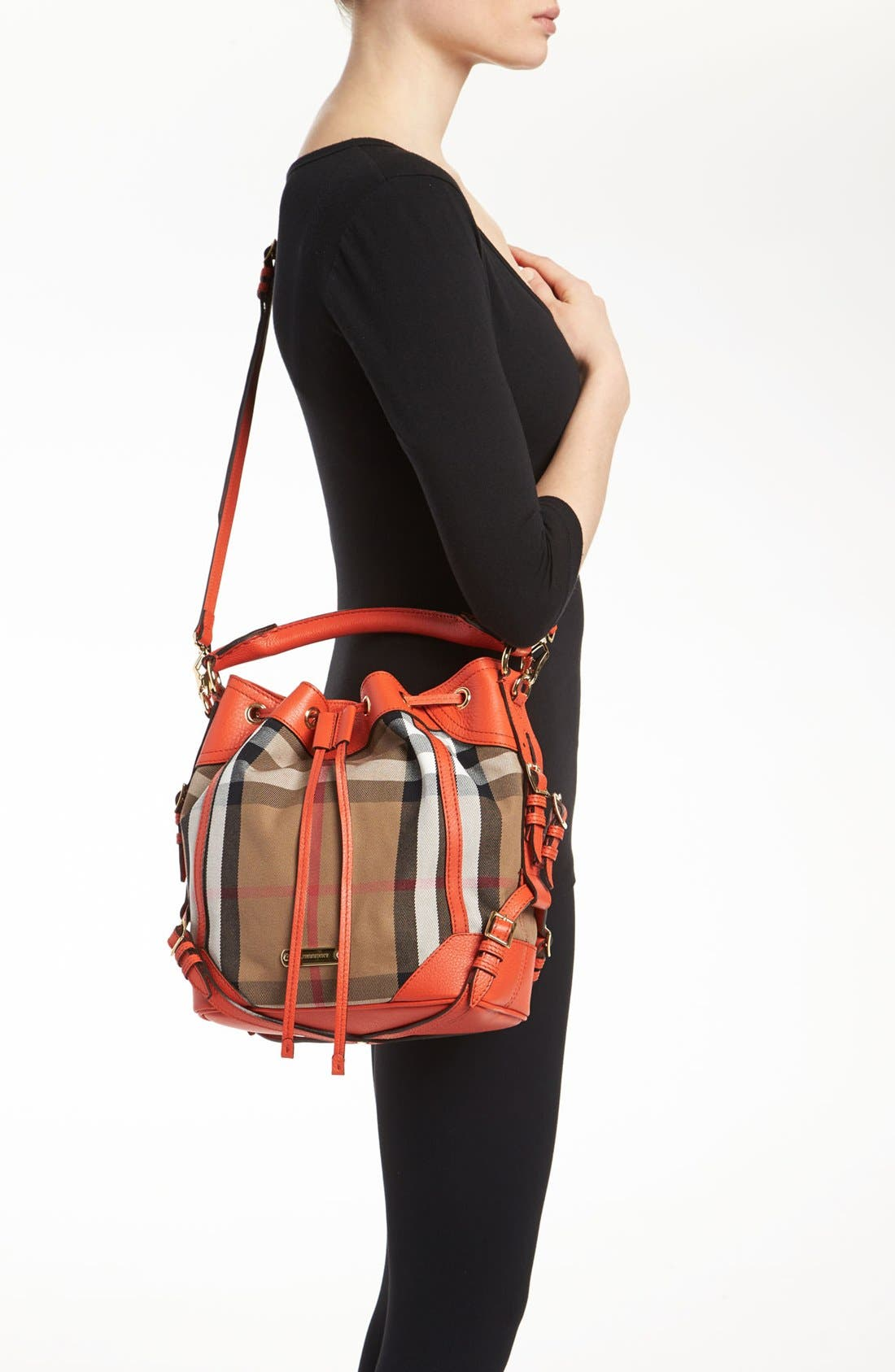 Alternate Image 2  - Burberry 'House Check - Medium' Drawstring Crossbody Bag