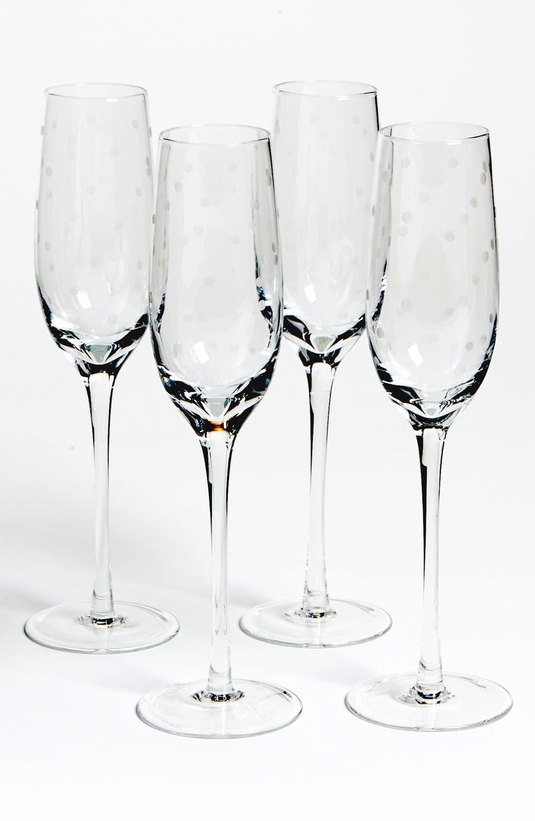 KATE SPADE NEW YORK 'larabee dot' champagne flutes