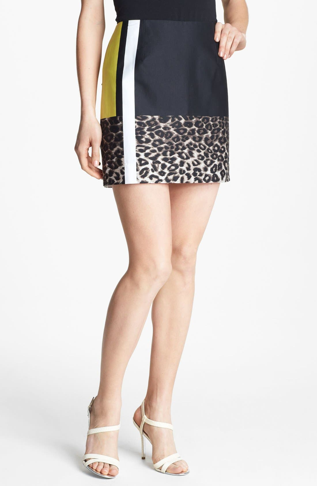 Main Image - Kenneth Cole New York 'Juliet' Colorblock Skirt