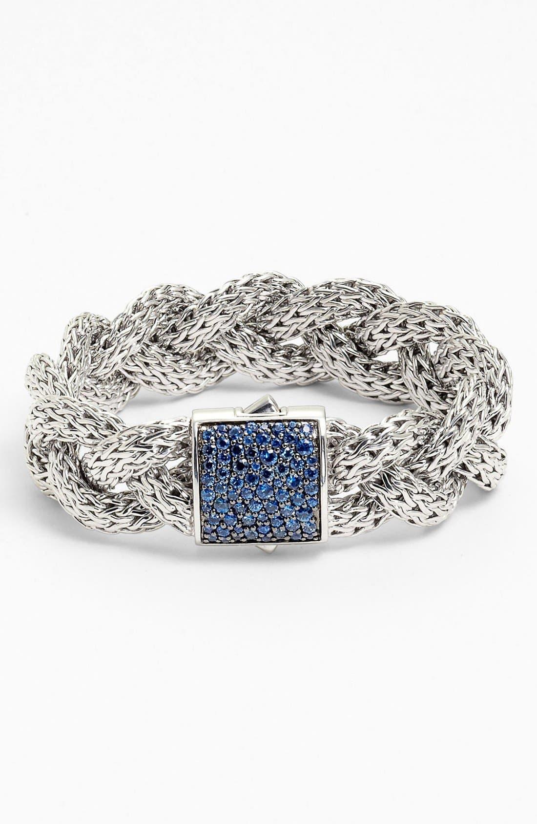 Alternate Image 1 Selected - John Hardy 'Classic Chain' Large Braided Bracelet