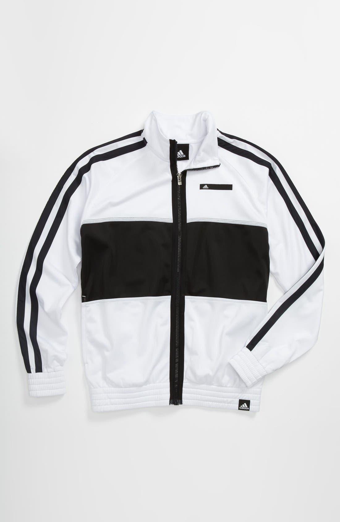 Alternate Image 1 Selected - adidas 'Fat Stripes' Jacket (Big Boys)