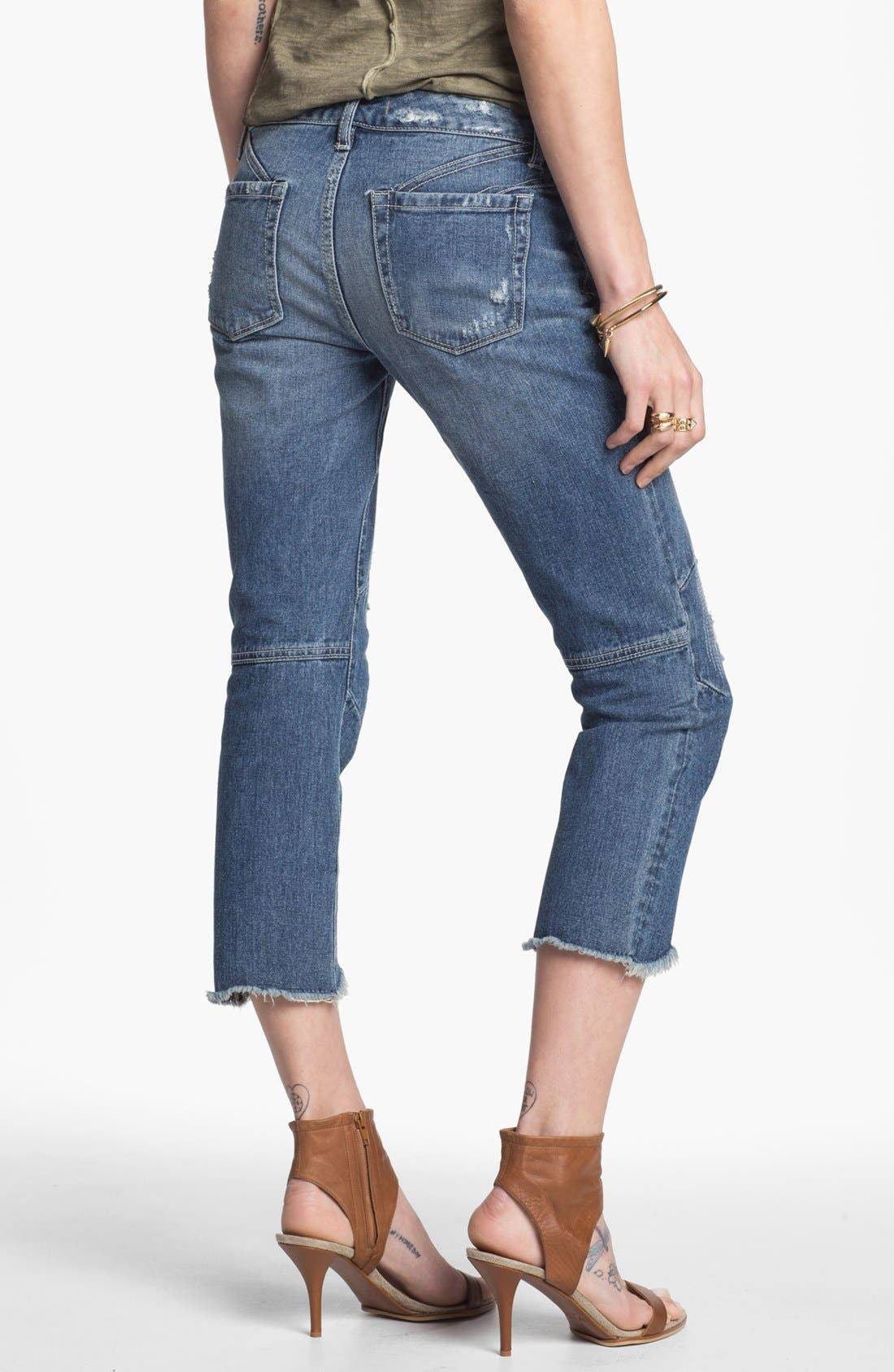 Alternate Image 2  - Free People Cutoff Crop Jeans (True Blue)