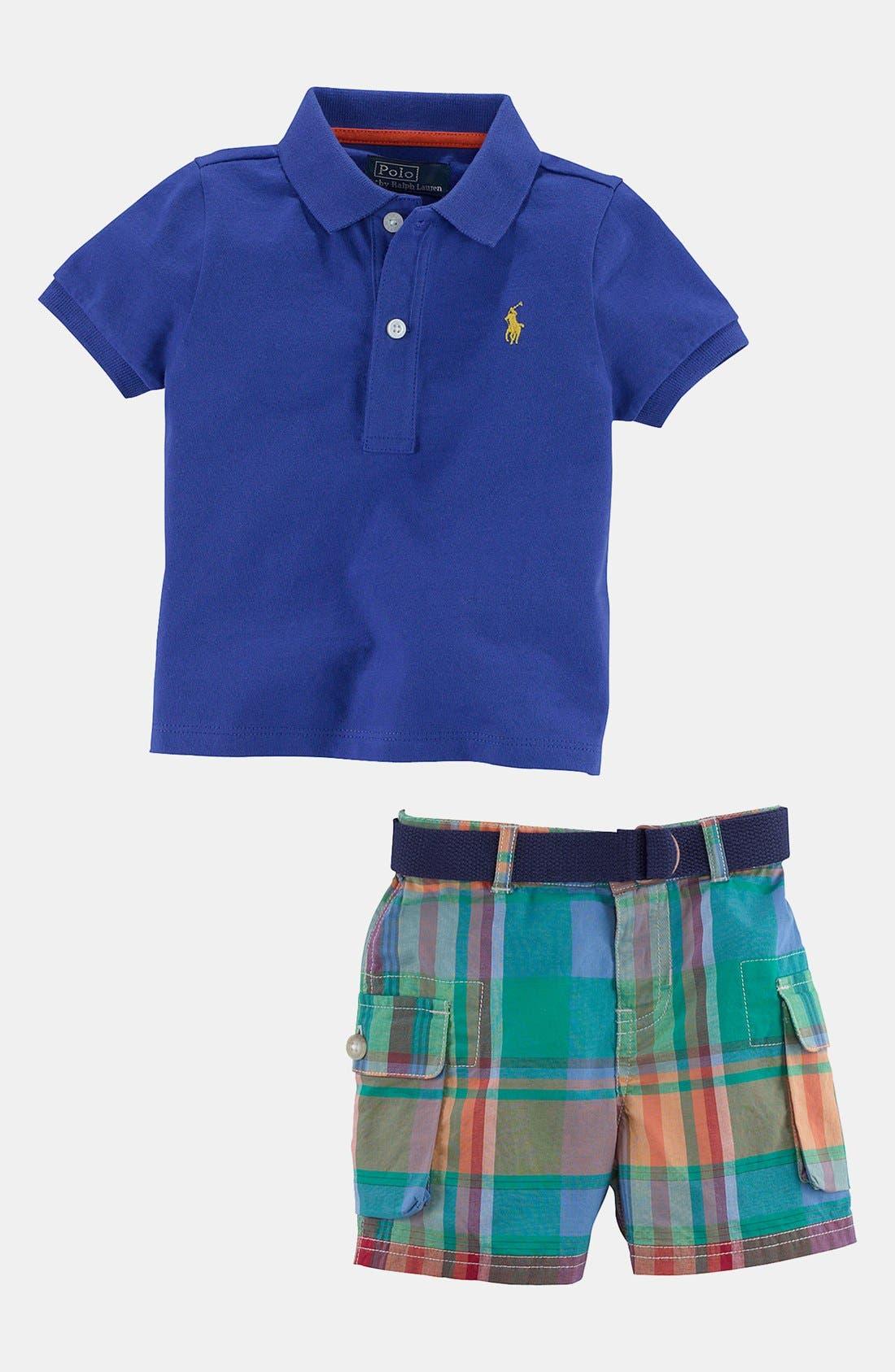 Alternate Image 2  - Ralph Lauren Polo & Shorts (Infant)