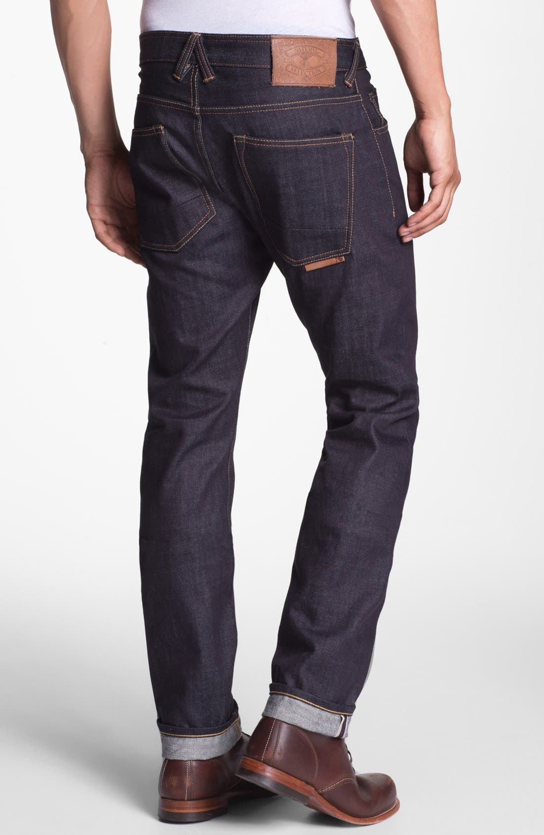 Alternate Image 1 Selected - Natural Selection Denim 'Raw' Narrow Straight Leg Selvedge Jeans (C-Raw)