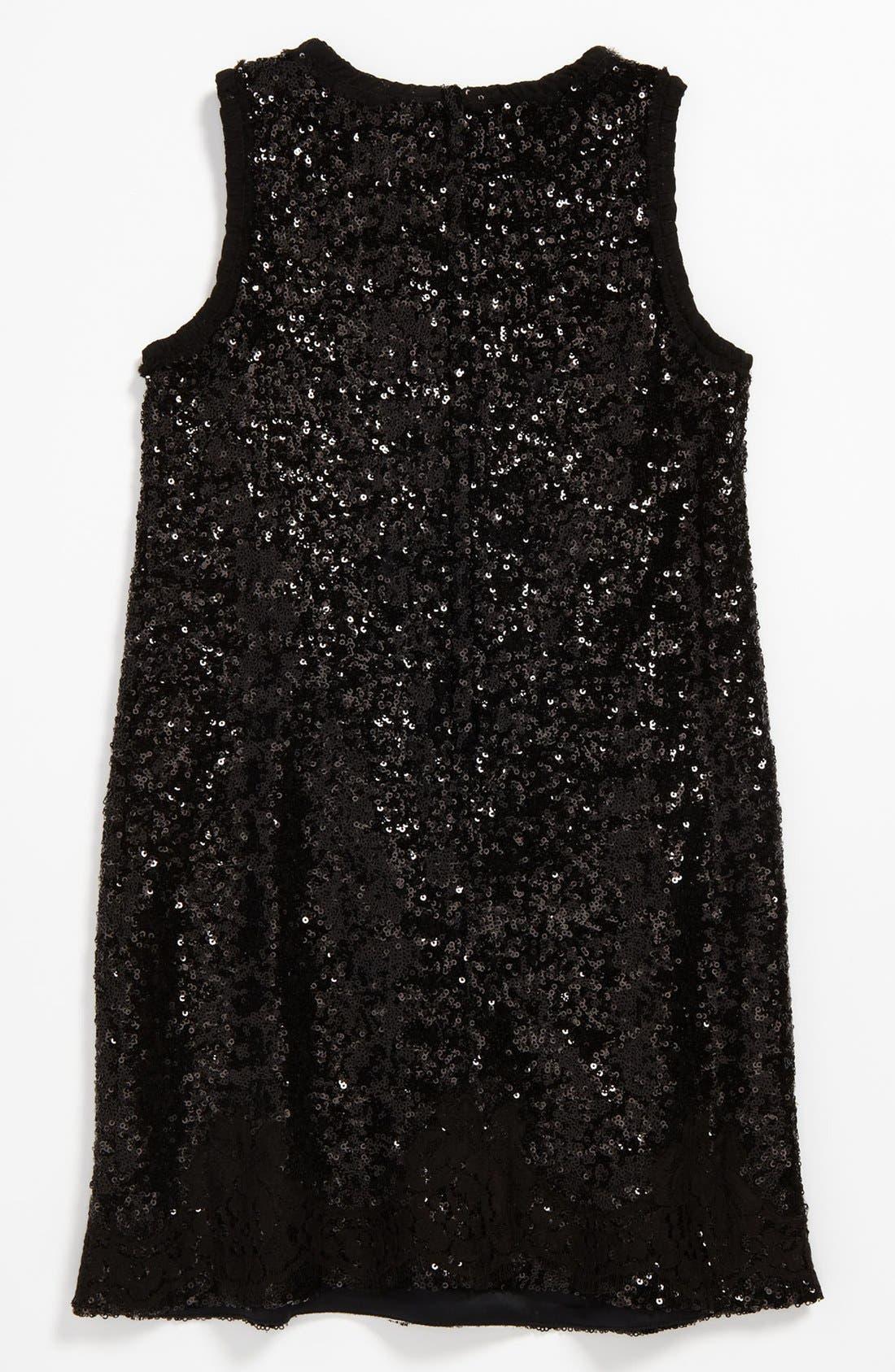 Alternate Image 2  - Dolce&Gabbana Sequin Lace Dress (Little Girls & Big Girls)