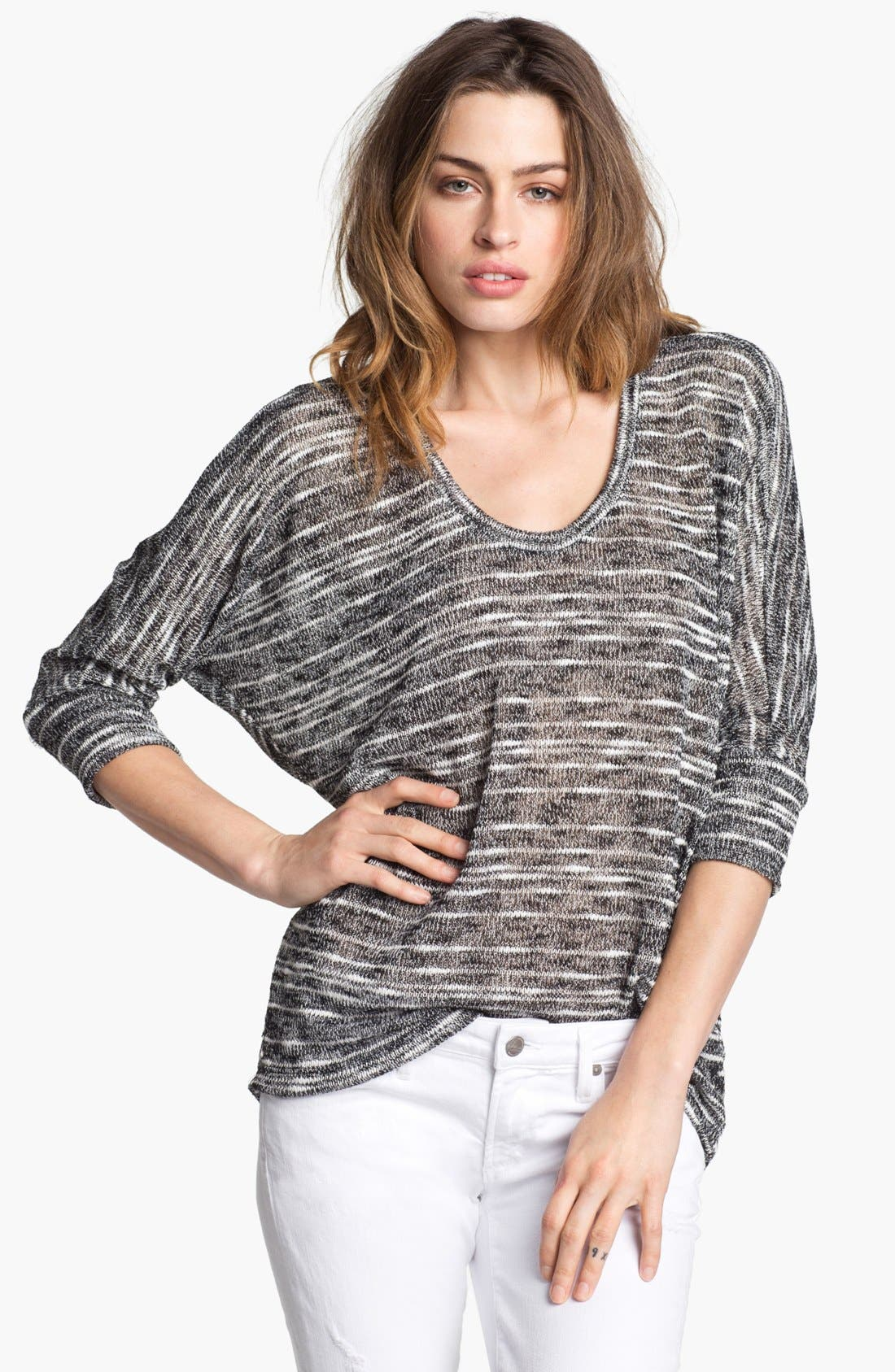 Main Image - Splendid 'Norwegian' Slub Stripe Dolman Sweater