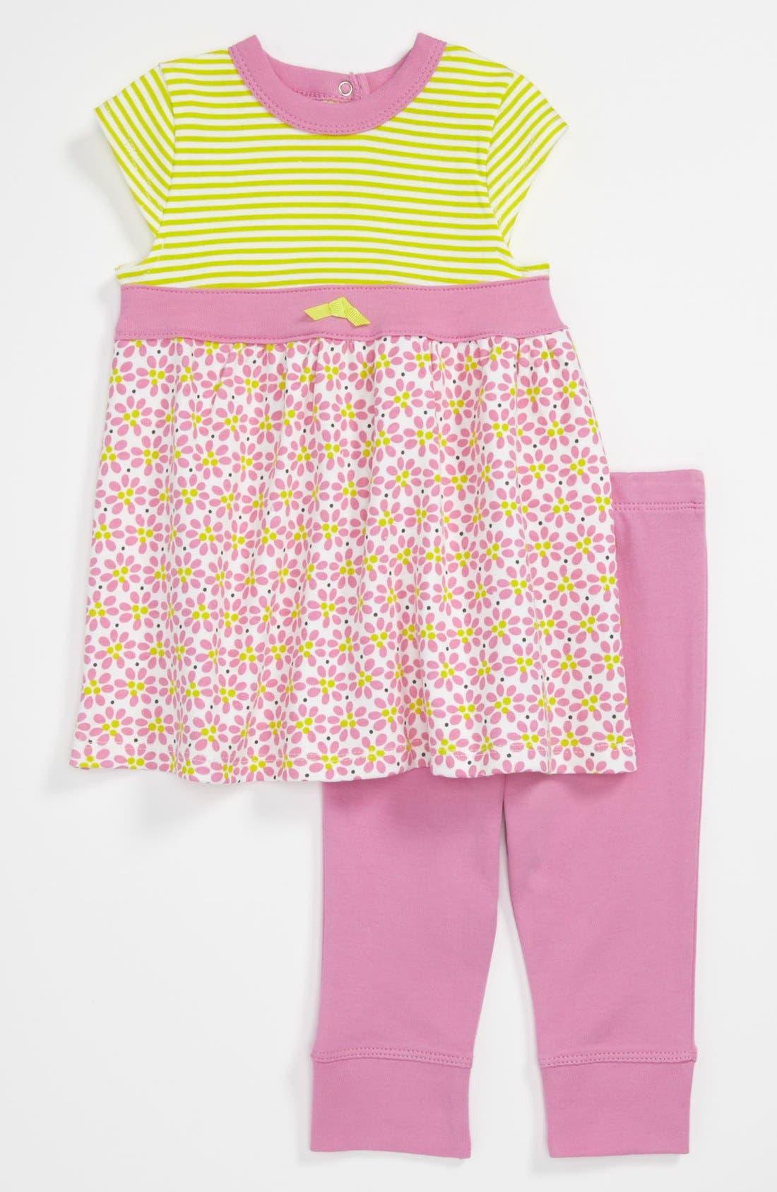 Main Image - Offspring 'Daisy' Dress & Leggings (Baby)