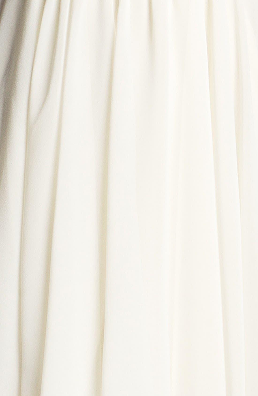 Alternate Image 3  - En Crème Sequin Bustier Skater Dress (Juniors) (Online Only)