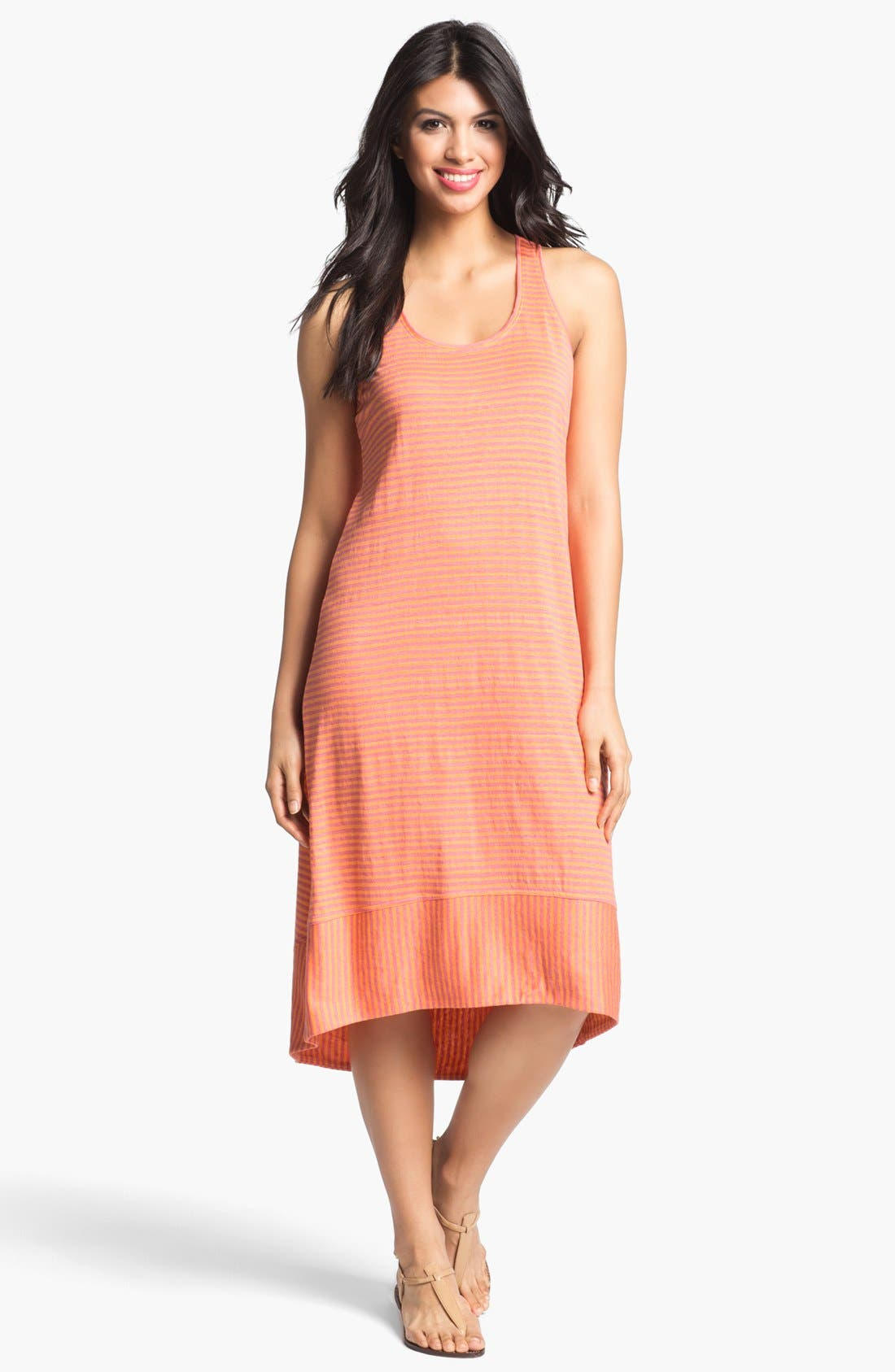 Main Image - Eileen Fisher Racerback Linen Jersey Dress