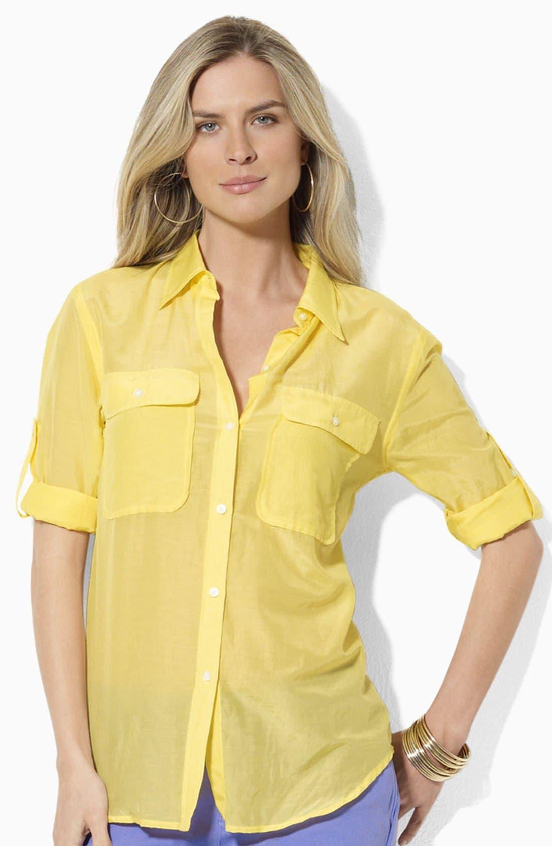 Main Image - Lauren Ralph Lauren Cotton Work Shirt