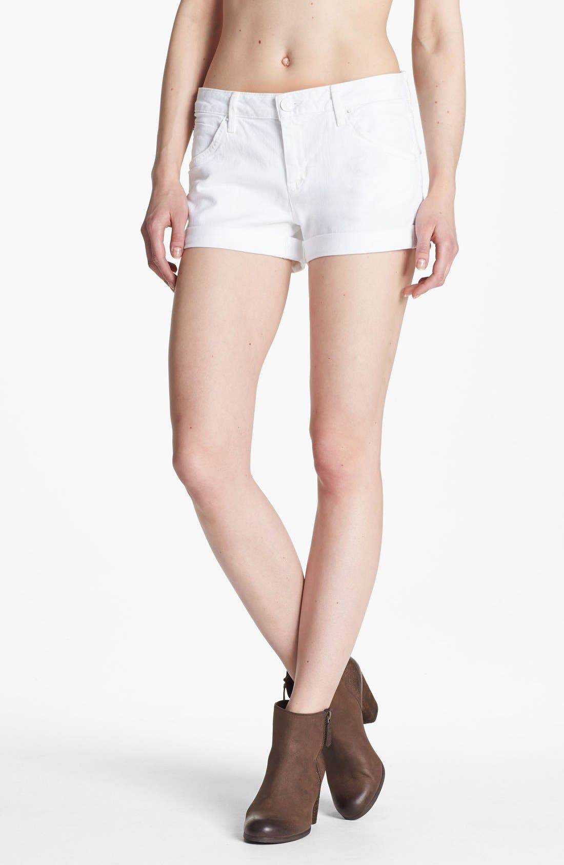Alternate Image 1 Selected - Hudson Jeans 'Hampton' Cuff Jean Shorts (White)