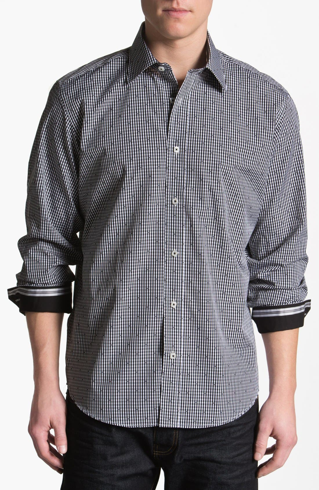 Alternate Image 1 Selected - Bugatchi Uomo Classic Fit Sport Shirt