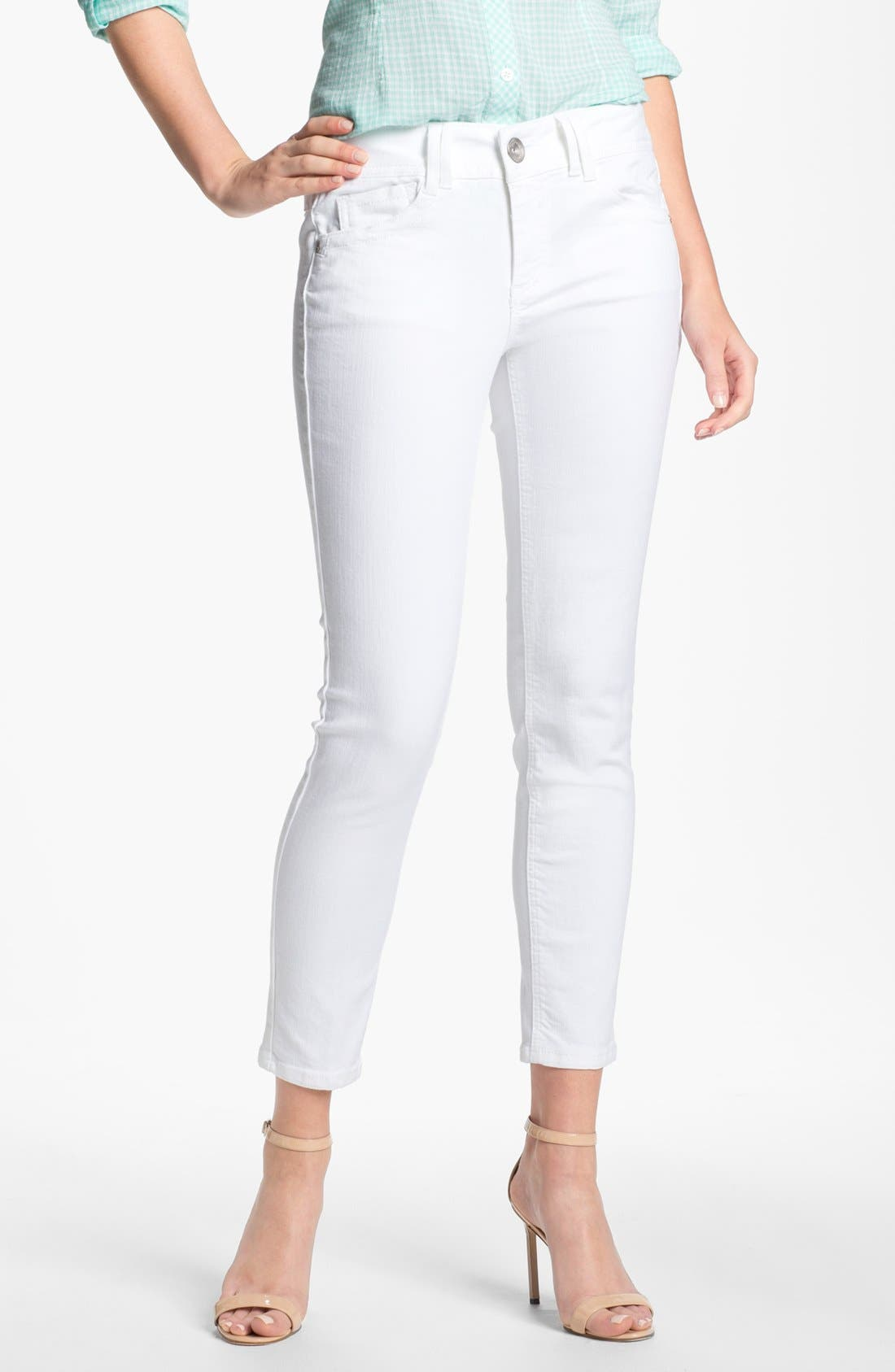 Main Image - Wit & Wisdom Colored Denim Skinny Jeans (Nordstrom Exclusive)