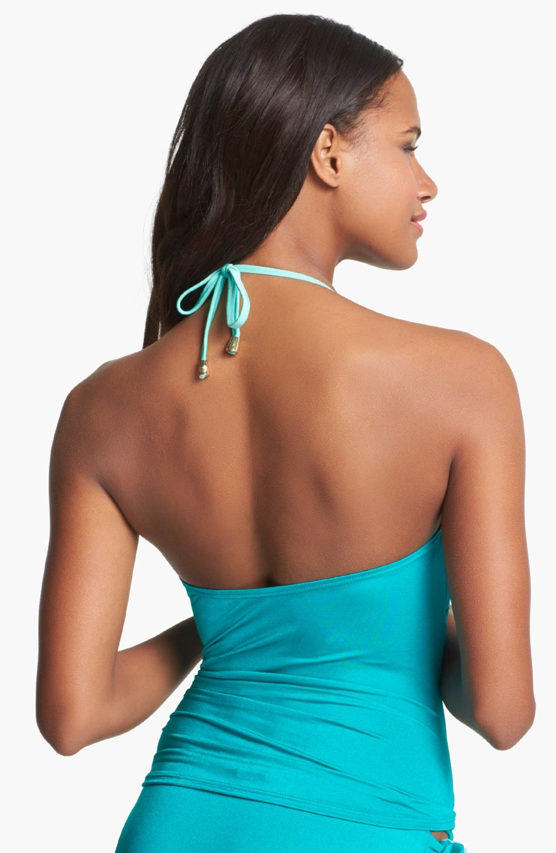 Alternate Image 2  - Vince Camuto Halter Tankini Top