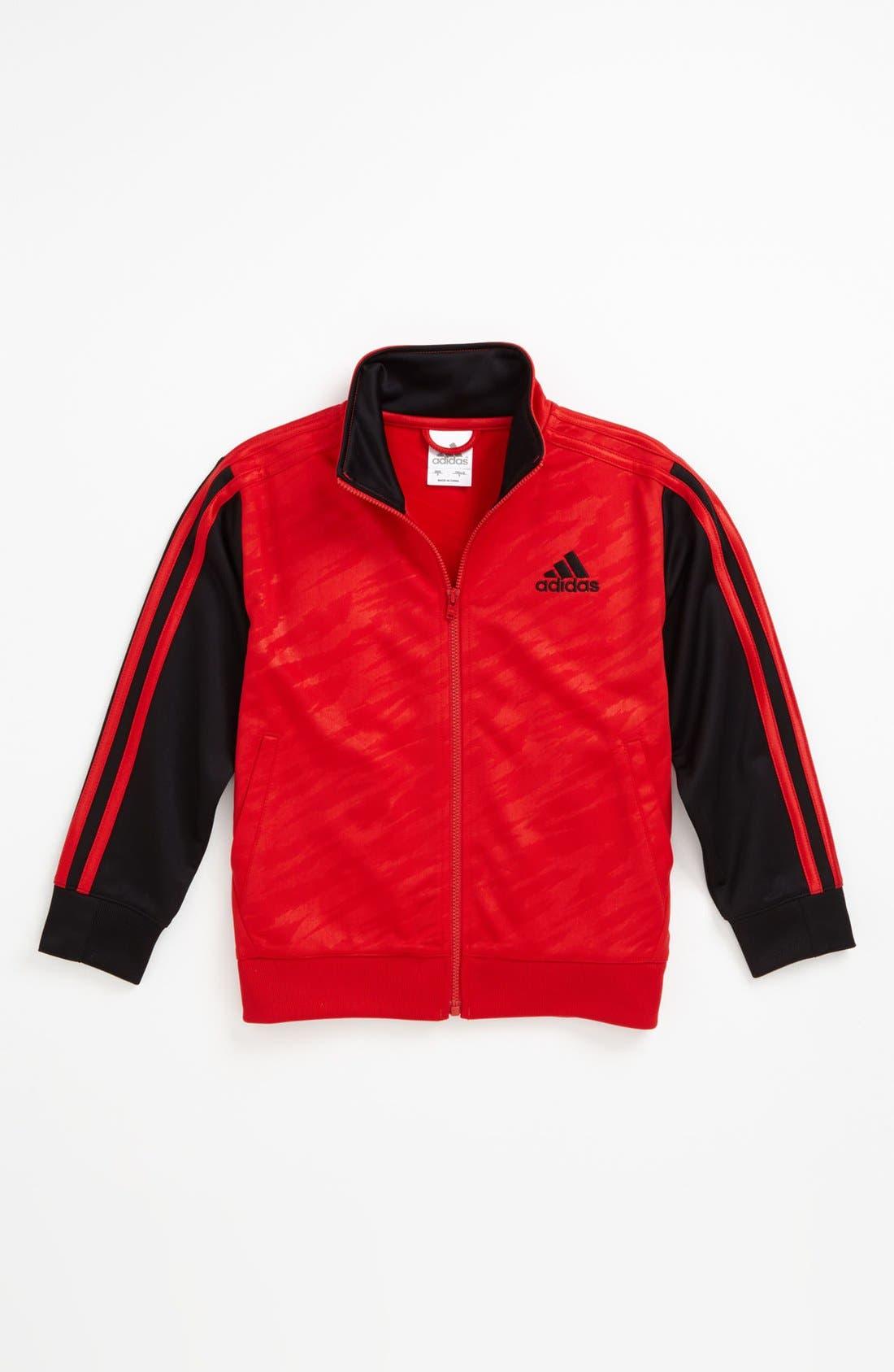 Main Image - adidas 'Impact' Varsity Jacket (Little Boys)