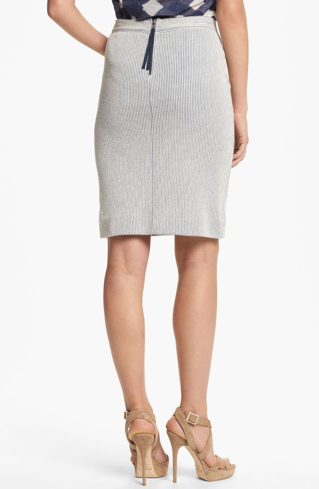 Alternate Image 2  - MARC BY MARC JACOBS Stripe Knit Pencil Skirt