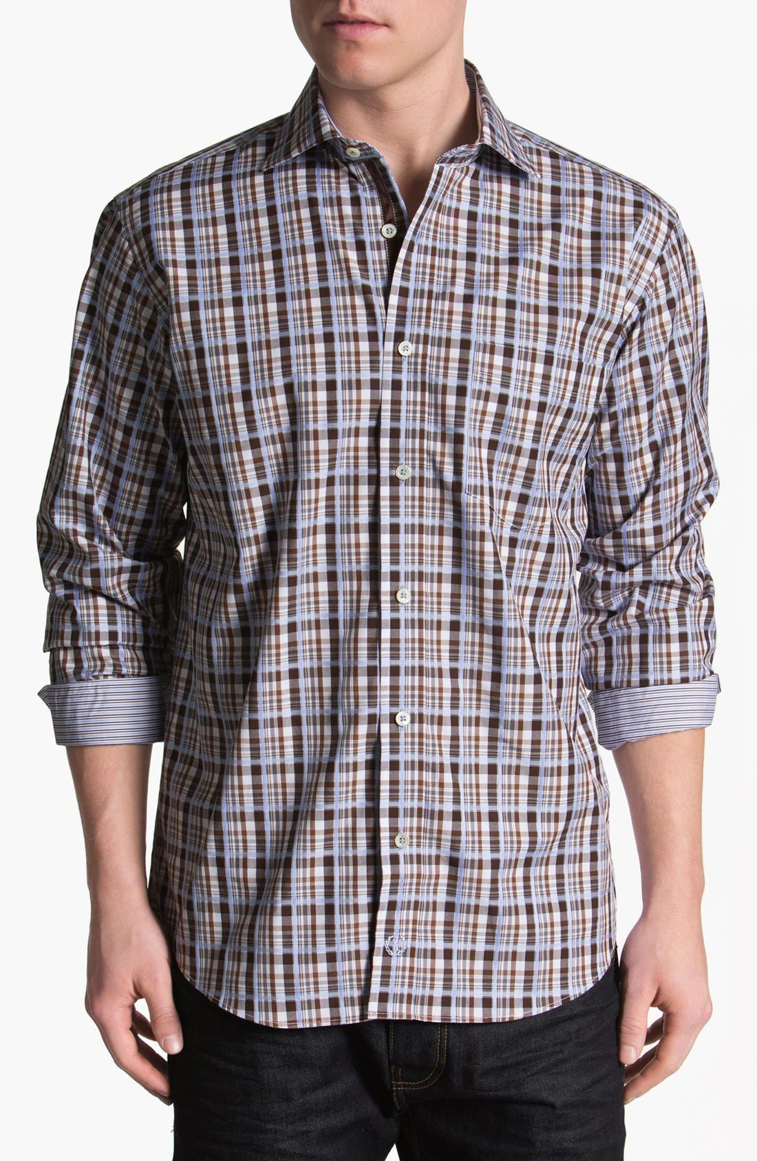 Alternate Image 1 Selected - BUGATCHI Classic Fit Sport Shirt (Tall)