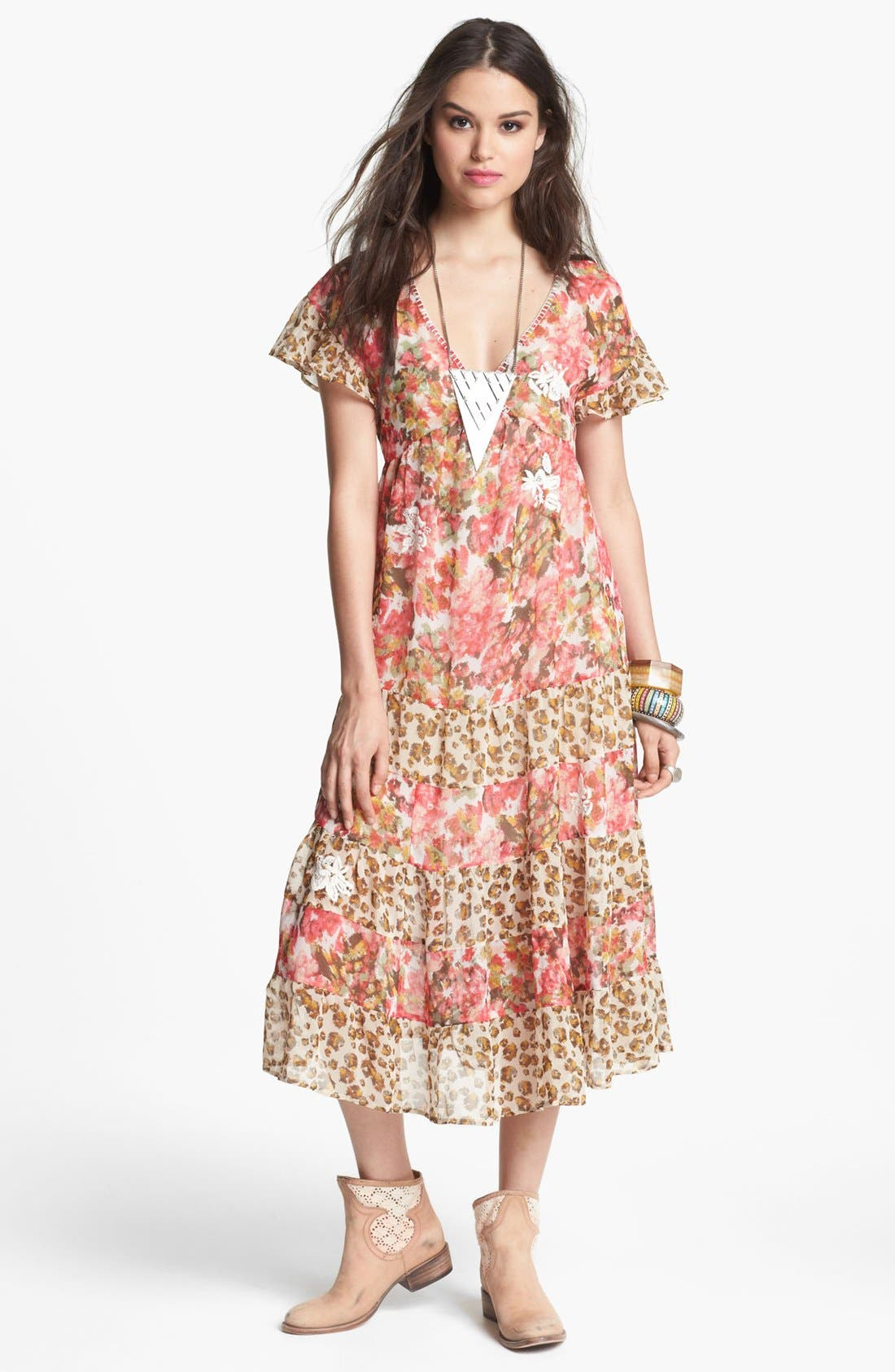 Main Image - Free People 'Flower Dream' Twin Print Tiered Dress