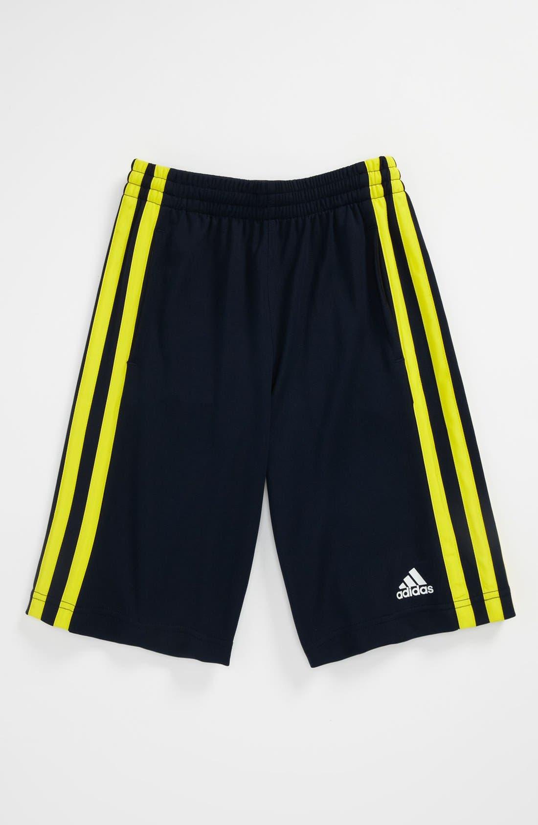 Alternate Image 1 Selected - adidas 'Fat Stripes' Shorts (Big Boys)