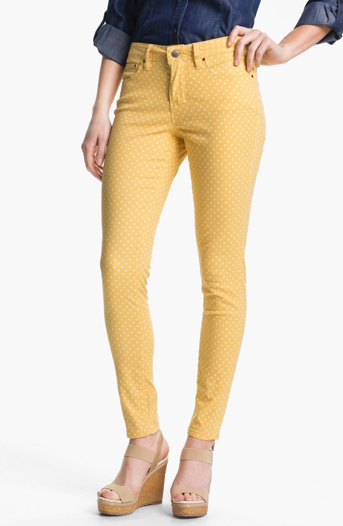 Alternate Image 1 Selected - Jag Jeans 'Chloe' Skinny Twill Pants (Petite)
